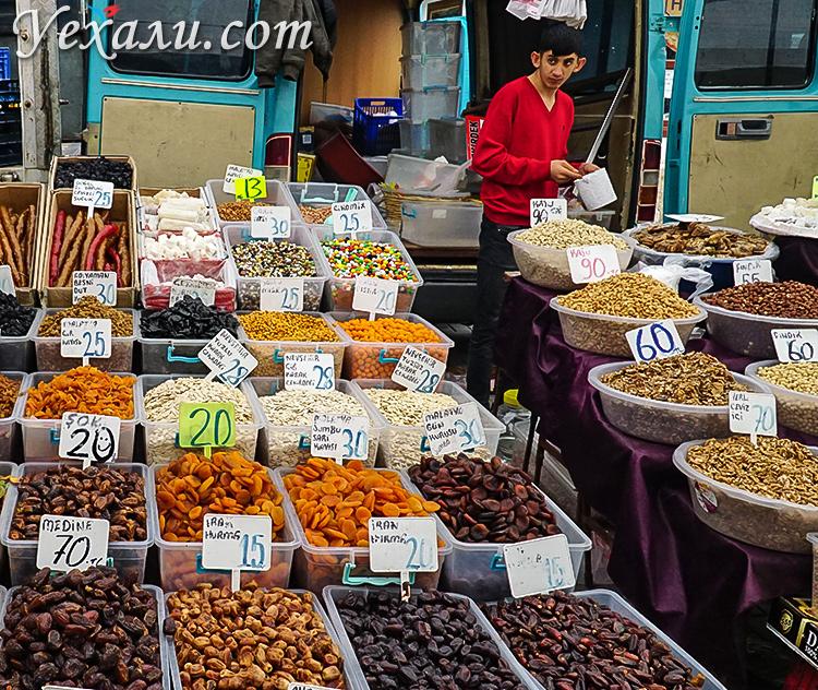Цены в Турции на еду: субботний рынок Махмутлара.
