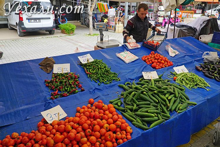 Цены на еду в Турции: вторничный рынок Махмутлара.
