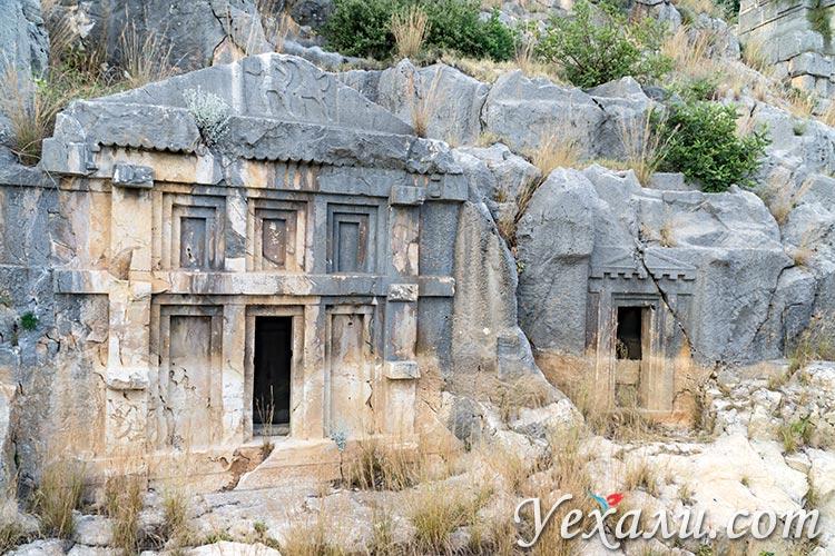 Ликийские гробницы Миры, Турция.