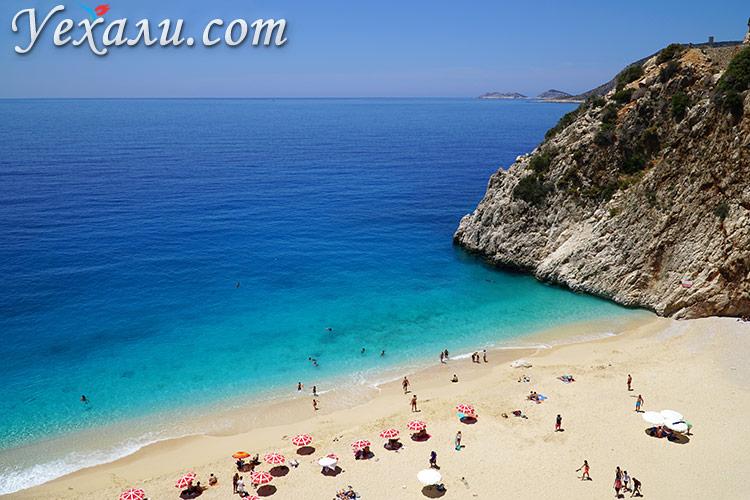 Лучшие и самые красивые пляжи Турции: Капуташ.