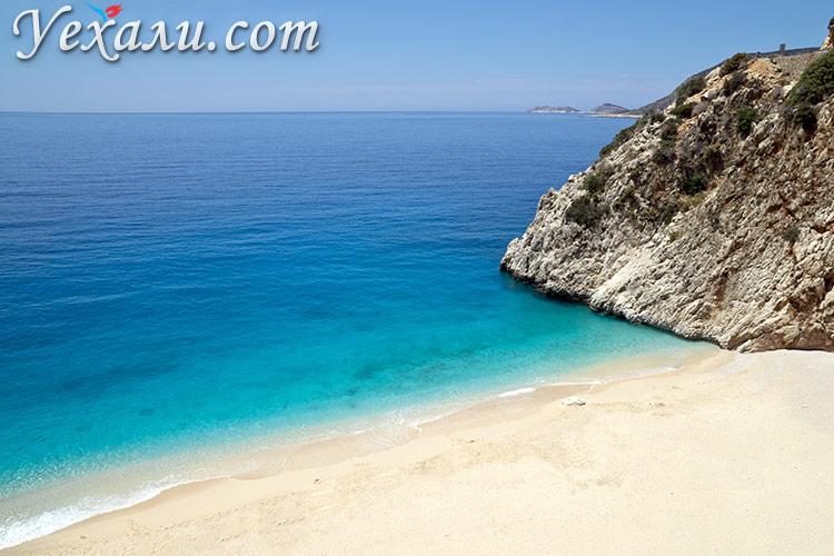 Пляж Капуташ в Турции, фото.