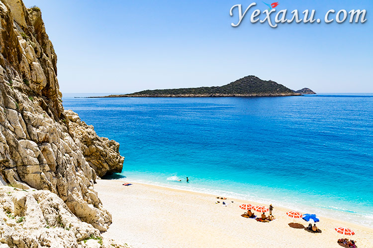 Пляж Капуташ, Турция.