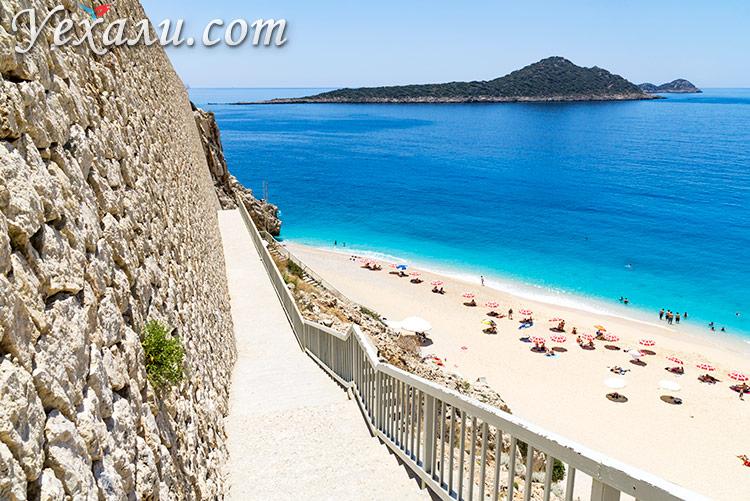 Лучшие пляжи Турции: Капуташ.