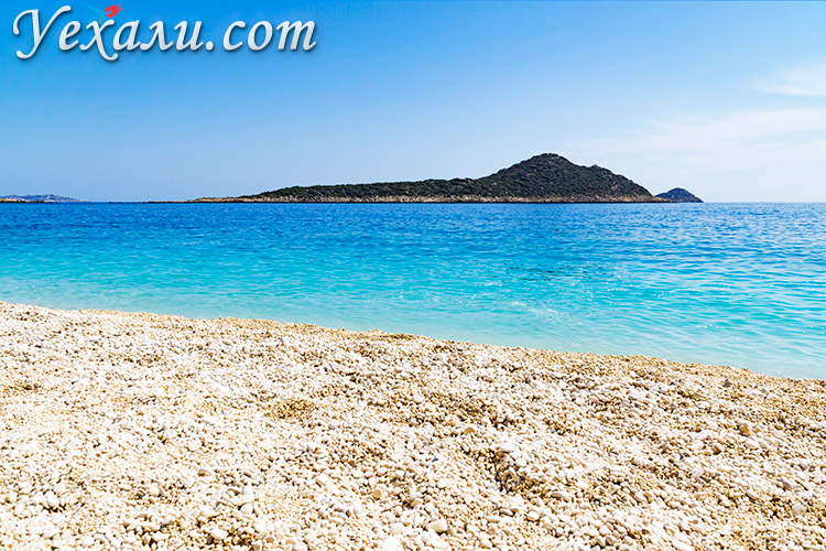 Пляж Капуташ, Турция, фото.