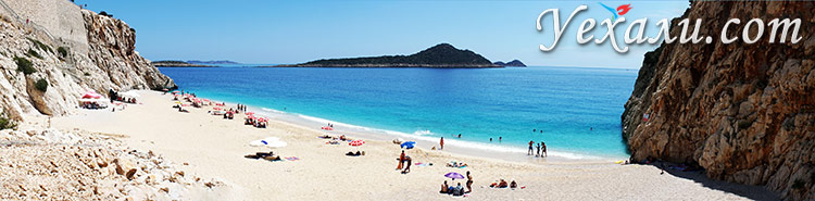 Фото пляжа Капуташ, Турция.