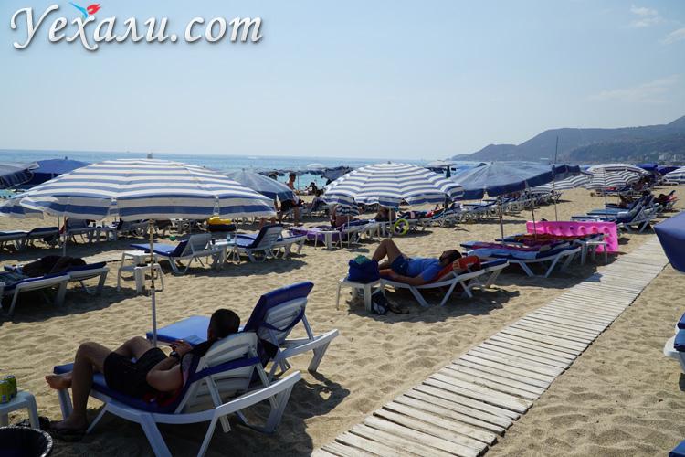 Лучшие пляжи Турции: пляж Клеопатры, Аланья
