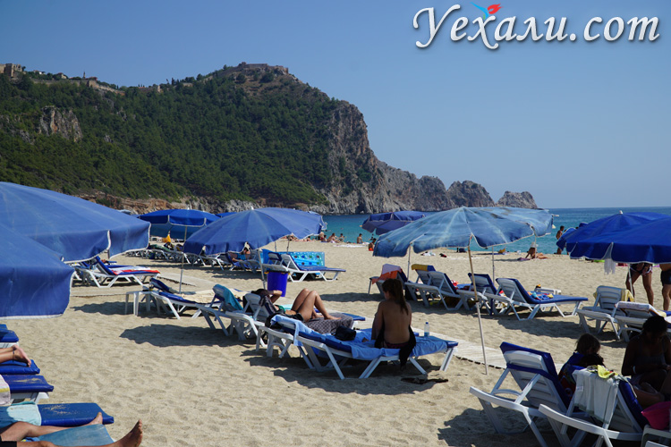 Пляж Клеопатры в Алании, Турция
