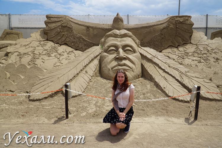 фестиваль песчаных скульптур в Турции
