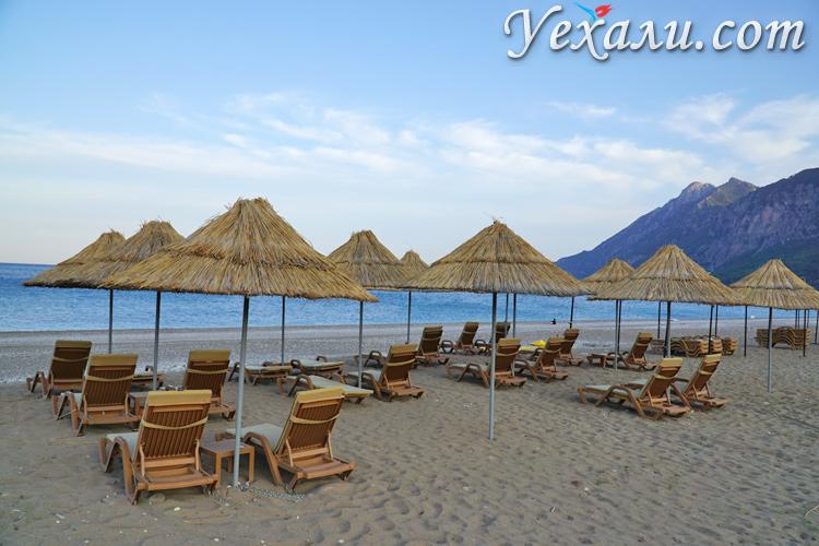 Пляж в деревне Чиралы