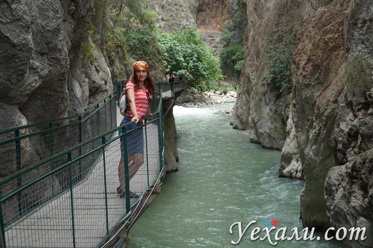 Мост в ущелье Саклыкент