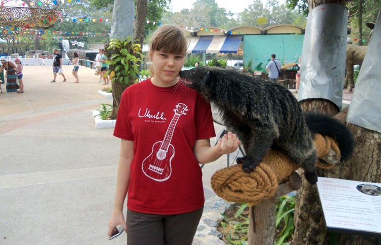 Экскурсия Дискавери в Паттайе: зоопарк Као Кео, бинтуронг