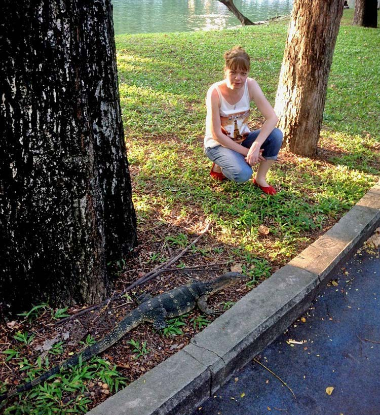 Вараны в парке Люмпини в Бангкоке