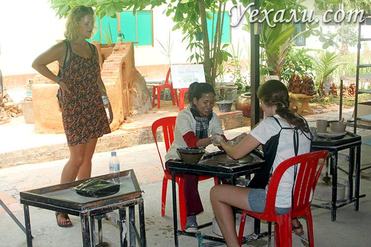Гончарный мастер-класс в Сием Рипе, Камбоджа