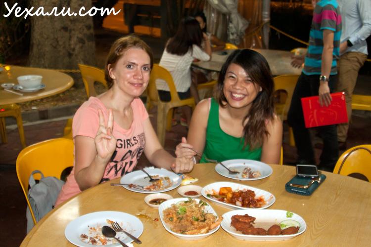 Сингапур, уличная еда.