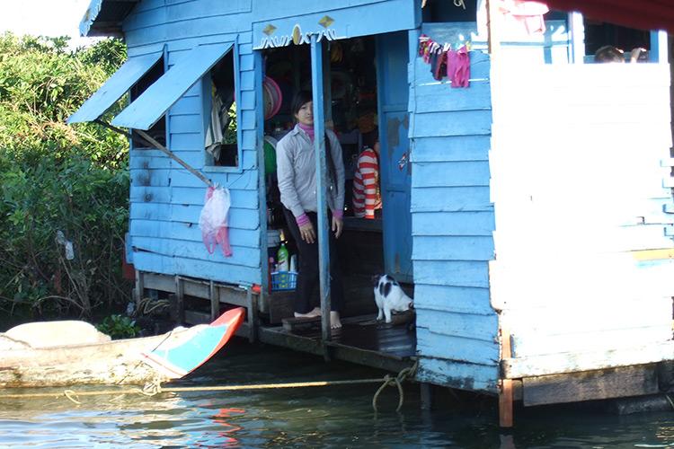 Фото озера Тонлесап в Камбодже.