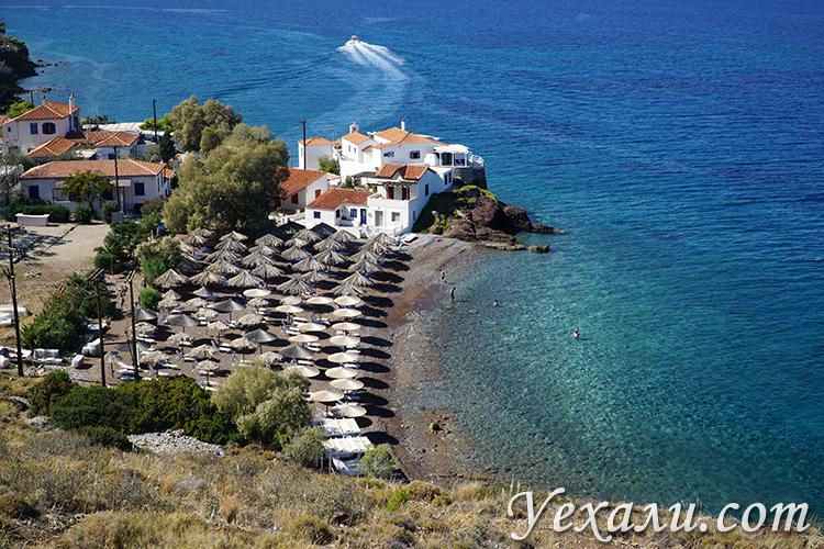 Фото острова Идра, пляж