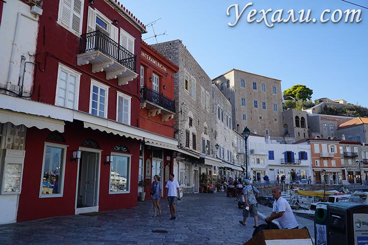 Набережная на Идре, фотоотчет из Греции