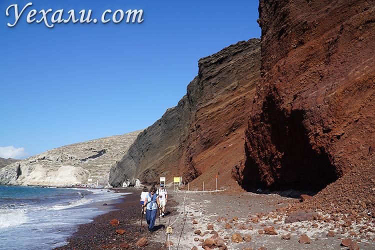 Красный пляж на Санторини, Греция