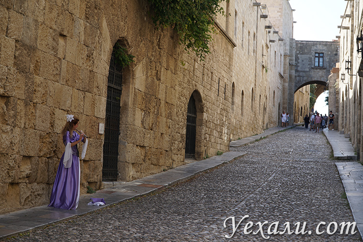 Туристический маршрут по Греции, древний город на Родосе
