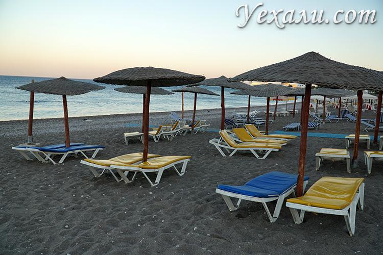 Городской пляж на острове Родос