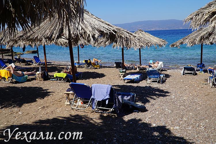 Пляжи острова Идра, фото