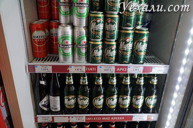 Цены на пиво на Миконосе