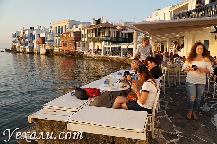 Достопримечательности острова Миконос в Греции: Маленькая Венеция.