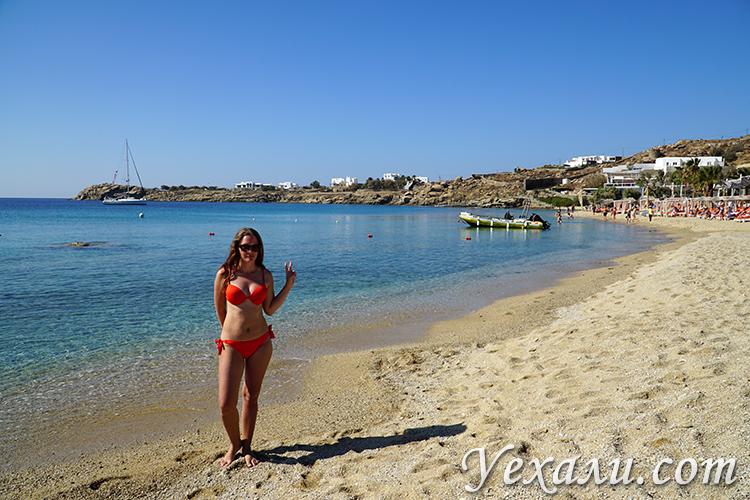 Пляж Парадайз на Миконосе фото