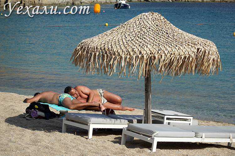 Пляж Супер Парадайз на Миконосе и геи