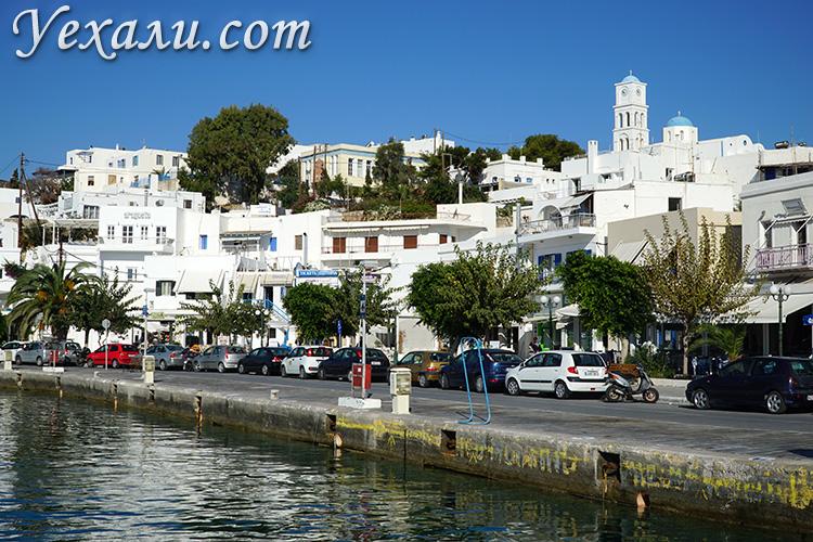 Путеводитель по Милосу (Греция). На фото - Адамантас, самый крупный город острова.
