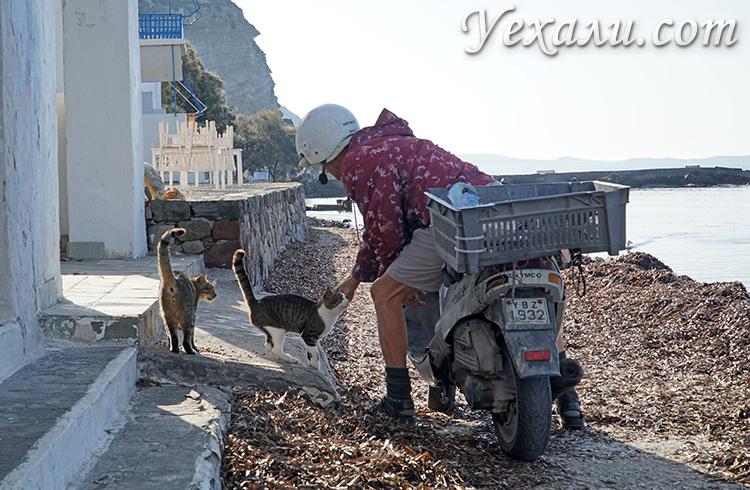 Лучшие фото острова Милос в Греции: рыбацкая деревушка Клима.