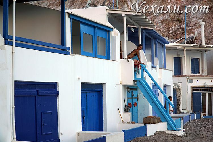 Деревня Фирапотамос на Милосе, Греция