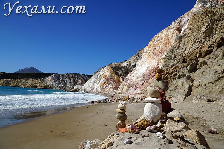 Пляж Фириплака, Греция, остров Милос.