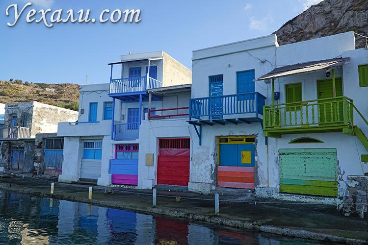 Самые красивые фото острова Милос, Греция: рыбацкая деревушка Клима.