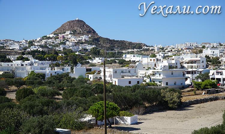 Самые красивые фотографии острова Милос, Греция: панорама острова и город Плака.