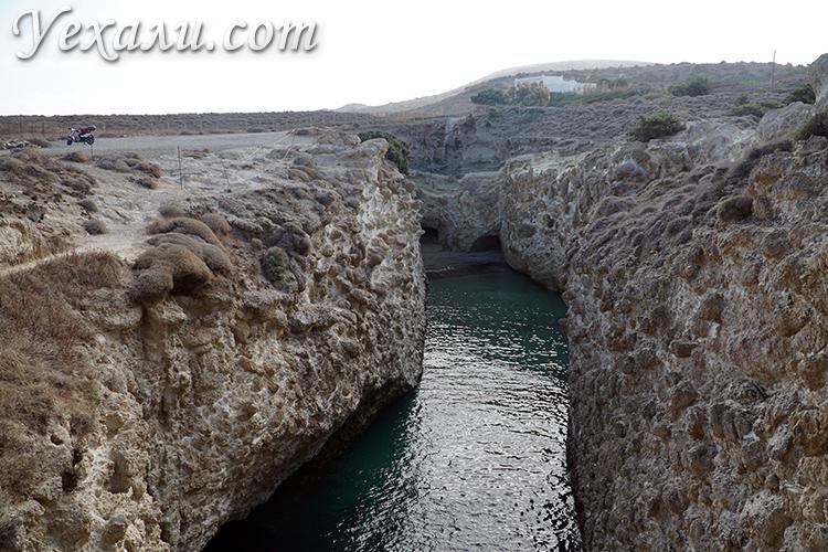 Пляж Папафрагас на Милосе, фото и отзывы
