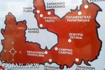 Фото схемы маршрутов автобусов Милоса