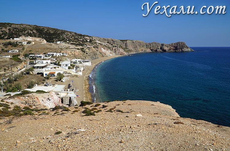 Все пляжи острова Милос в Греции: Палиохори.
