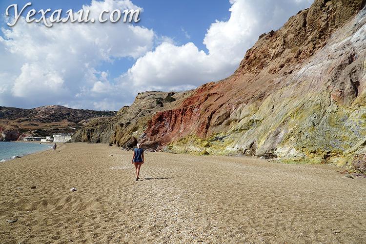 Лучшие фото острова Милос в Греции: пляж Палиохори.