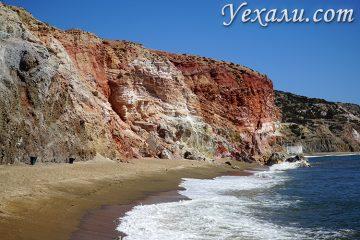 Все пляжи острова Милос, Нреция. На фото - пляж Палиохори.