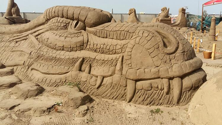 Скульптуры из песка Турция