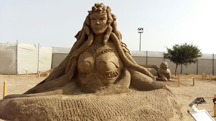 Скульптуры из песка в Антальи