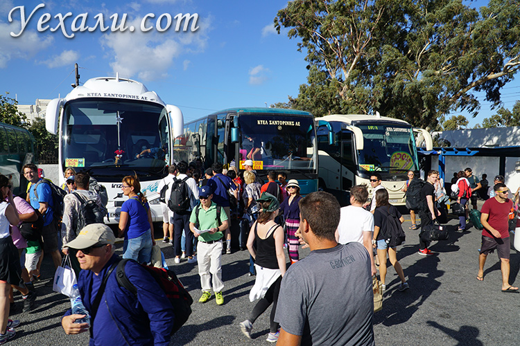 Автобусы на Санторини