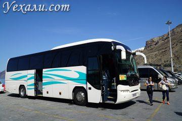Автобусы на Санторини в новом порту