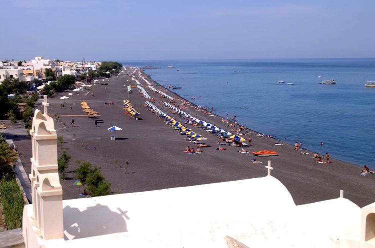Все пляжи Санторини: Камари.