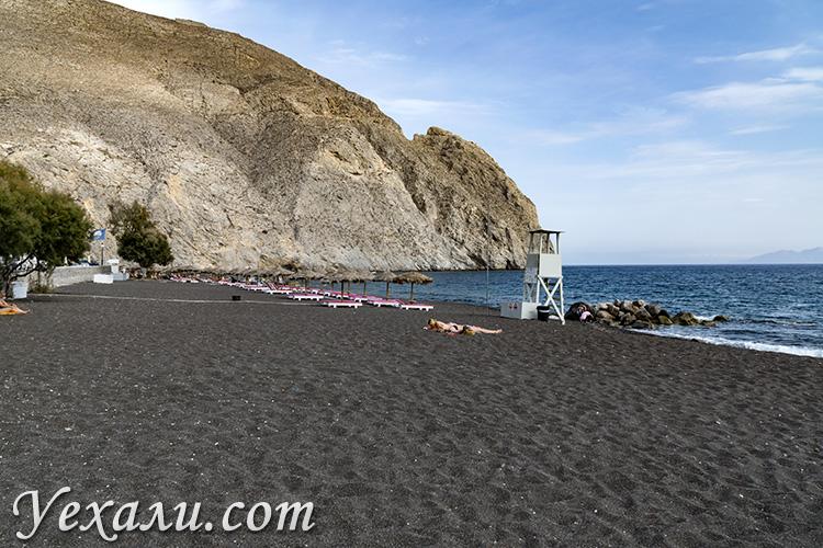 Лучшие пляжи Санторини: Перисса.