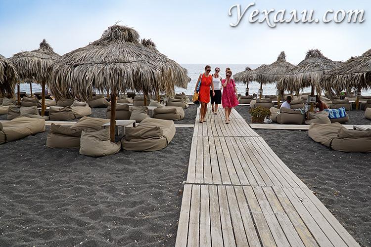 Лучшие пляжи Санторини: Периволос.