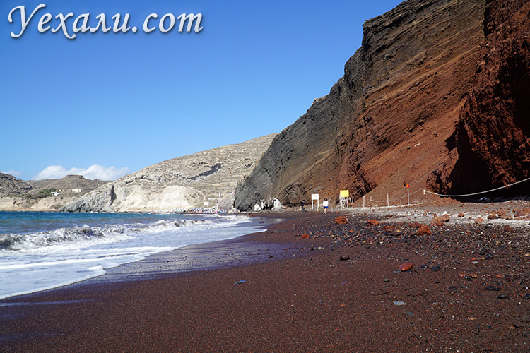 Все пляжи Санторини: Красный пляж.