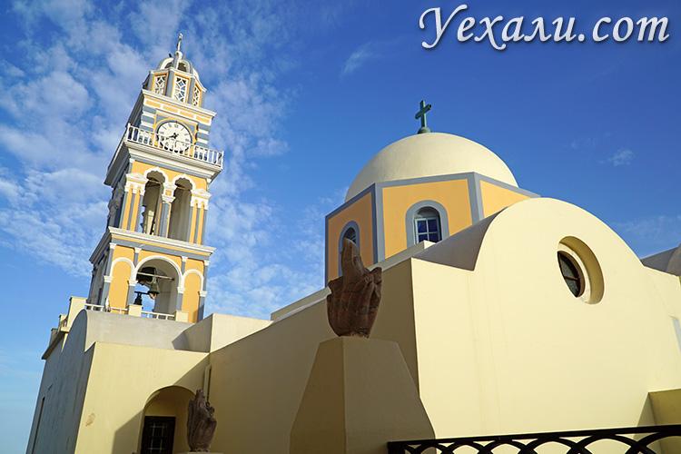 Все достопримечательности Санторини, Греция: Католический Собор Фиры.