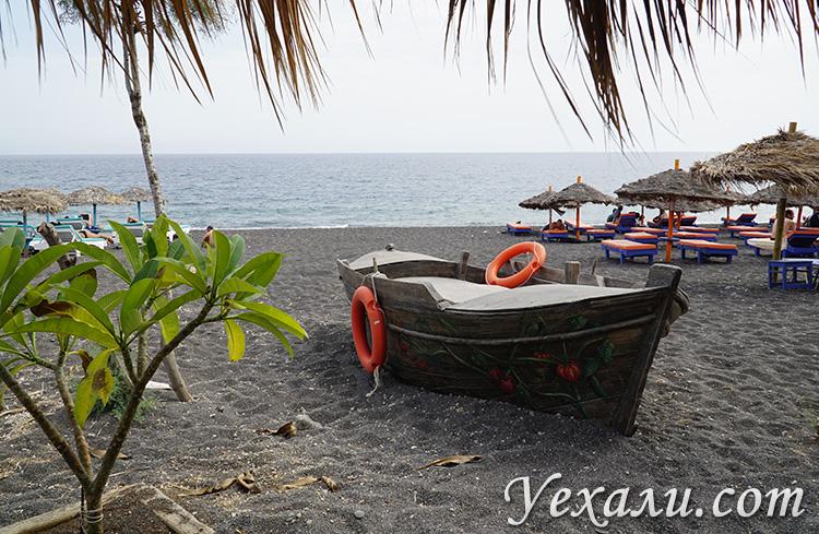 Путеводитель по Санторини, Греция: черный пляж Перисса.